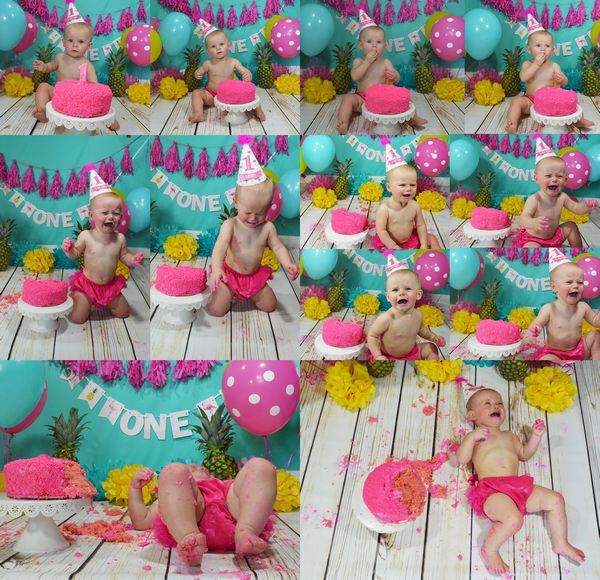 Amazing First Birthday Smash Cake Gina Thompson Photography Personalised Birthday Cards Veneteletsinfo